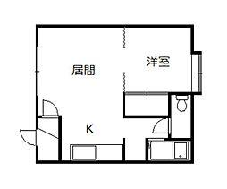 北海道旭川市永山三条22丁目の賃貸アパートの間取り