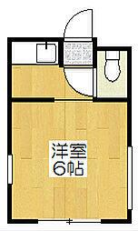 ロイヤルハイツアオキ[402号室]の間取り