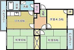富士見サンハイツ[302号室]の間取り