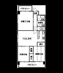 エステート5[3階]の間取り