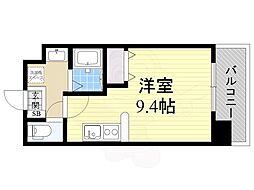 仮)都島本通4丁目新築マンション 10階ワンルームの間取り