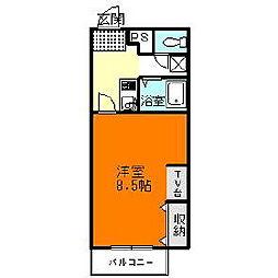 スタンドアップ錦町[1階]の間取り