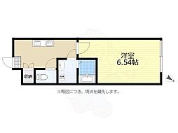 京王線 千歳烏山駅 徒歩6分の賃貸アパート 1階1Kの間取り