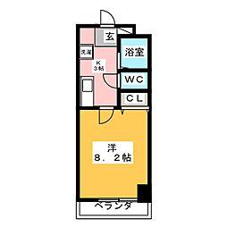 ラフォーレ鶴舞[3階]の間取り