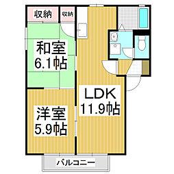 フォーレスNOGUCHI B棟[2階]の間取り
