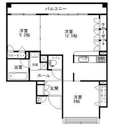 Lapis Lazuli casa 〜ラピスラズリカーサ〜[2階]の間取り