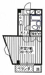 埼玉県所沢市宮本町1丁目の賃貸マンションの間取り