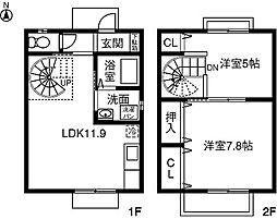 [テラスハウス] 愛知県春日井市出川町 の賃貸【/】の間取り