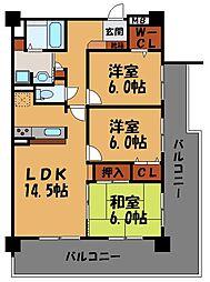 アンピール舞鶴[210号室]の間取り