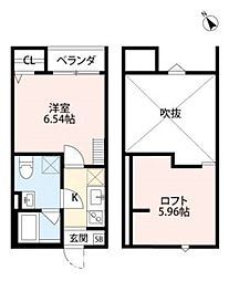 大阪府堺市堺区文珠橋通の賃貸アパートの間取り