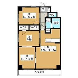 S-FORT鶴舞reale[9階]の間取り