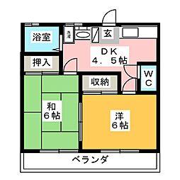 ファミール55[2階]の間取り