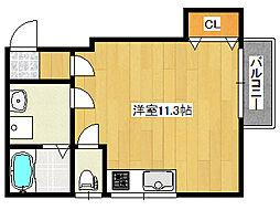 阪急神戸本線 王子公園駅 徒歩16分の賃貸アパート 1階ワンルームの間取り