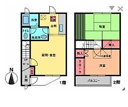 [テラスハウス] 神奈川県藤沢市藤が岡3丁目 の賃貸【/】の間取り