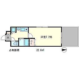 プレサンス京都三条大橋東山苑[1階]の間取り