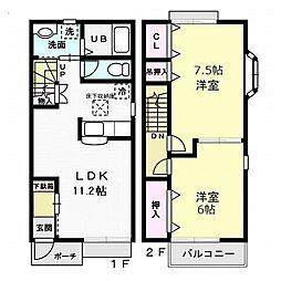 セブンコート[2階]の間取り