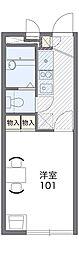 阪急千里線 山田駅 バス18分 下山田下車 徒歩4分の賃貸アパート 2階1Kの間取り