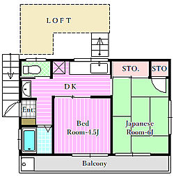 フラワーハイム[2階]の間取り