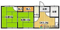 足達アパート[201号室]の間取り