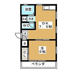 West Shiga[2階]の間取り
