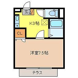 メゾン滝澤[1階]の間取り