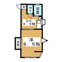 メゾンドチェリー[2階]の間取り