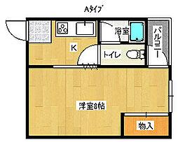 サニーカルマン[4階]の間取り