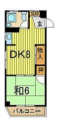 越川第二ビル[3階]の間取り