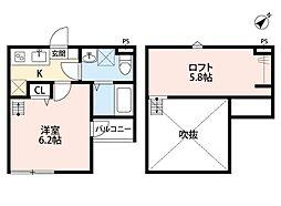 Crescent TAMA(クレッセントタマ)[2階]の間取り