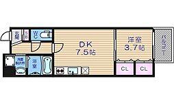 大阪府大阪市天王寺区堀越町の賃貸マンションの間取り