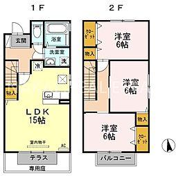 [テラスハウス] 徳島県徳島市城南町3丁目 の賃貸【/】の間取り