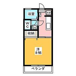 レジデンスコスモ[2階]の間取り