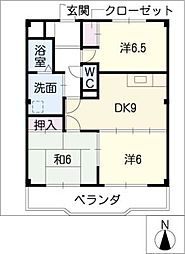 WAVE HOUSE[2階]の間取り
