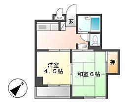 シティメイツKODEKI[4階]の間取り