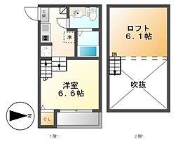 stage志賀本通[2階]の間取り