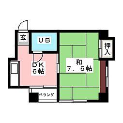 パールハイツ[4階]の間取り