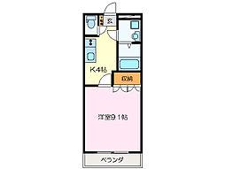 三重県松阪市小野江町の賃貸アパートの間取り