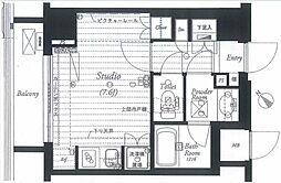 東京メトロ銀座線 銀座駅 徒歩7分の賃貸マンション 8階ワンルームの間取り