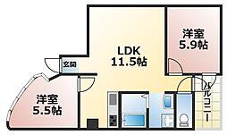 KF77ビル[4階]の間取り