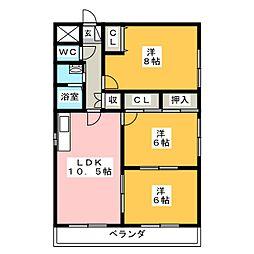 ファミリ−テラス メイワ[3階]の間取り