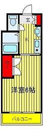 パルテール江戸川台[211号室]の間取り