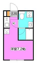 東京都清瀬市中里3の賃貸アパートの間取り