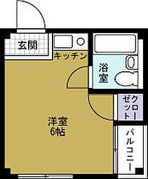 ハイツ福寿[2階]の間取り