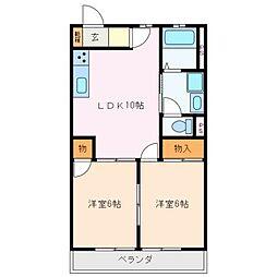 レジデンス鶴[2階]の間取り