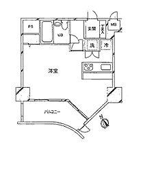 〜広々としたお部屋が魅力インペリアル六本木1号館〜[408号室]の間取り