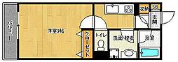 京都府京都市山科区東野片下リ町の賃貸マンションの間取り