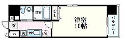 ウイング宝町サード 7階1Kの間取り
