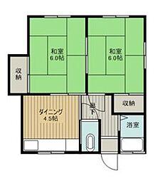 広島県呉市上長迫町の賃貸アパートの間取り