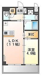 (仮称)堺市堺区向陵中町3丁新築賃貸マンション 1階1LDKの間取り