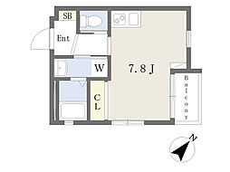 氷川台YKマンション 2階ワンルームの間取り